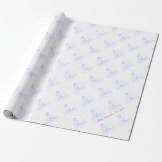 Sexy Vintage Pin Up Girl Gift Wrap Wrapping Paper