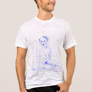 Sexy Vintage Pinup Girl Babe Burnout Mens T-shirt