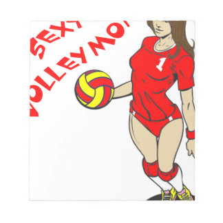 SEXY VOLLEY MOM NOTEPAD