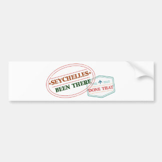Seychelles Been There Done That Bumper Sticker