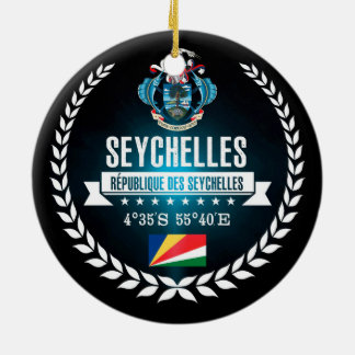 Seychelles Ceramic Ornament