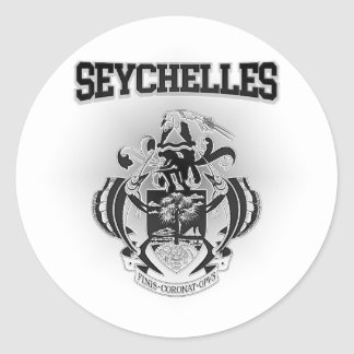 Seychelles Coat of Arms Classic Round Sticker
