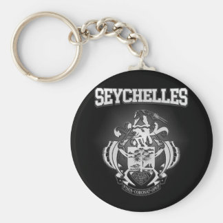 Seychelles Coat of Arms Keychain