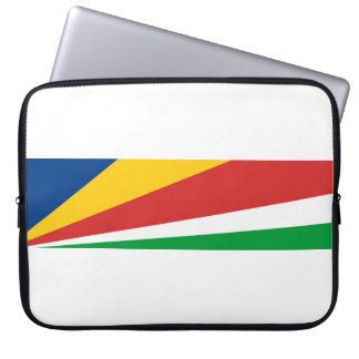 seychelles country flag nation symbol name text computer sleeve