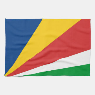 seychelles country flag towel