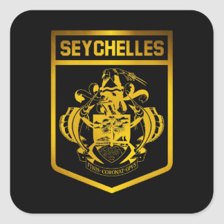 Seychelles Emblem Square Sticker