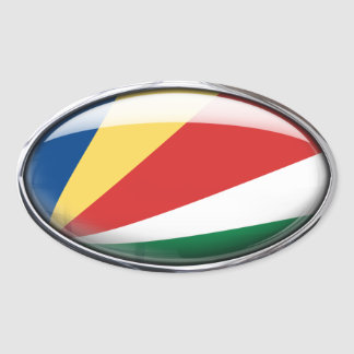 Seychelles Flag Glass Oval Oval Sticker