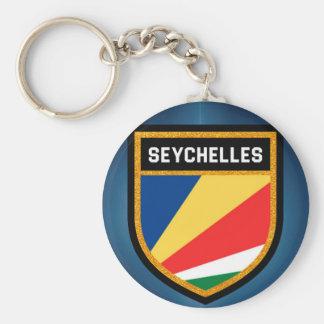 Seychelles Flag Keychain