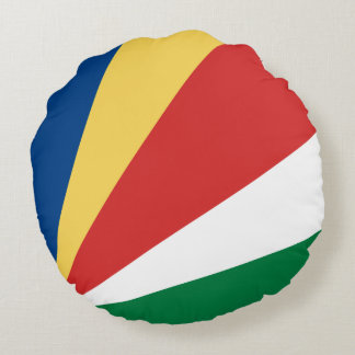 Seychelles Flag Round Pillow