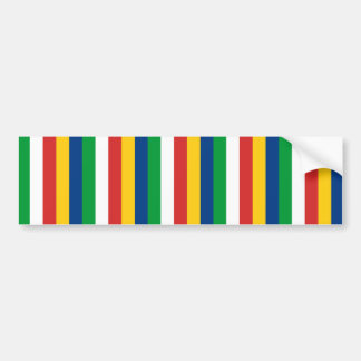 Seychelles flag stripes lines pattern bumper sticker