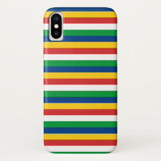 Seychelles flag stripes lines pattern iPhone x case