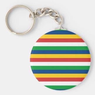 Seychelles flag stripes lines pattern keychain