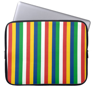 Seychelles flag stripes lines pattern laptop sleeve