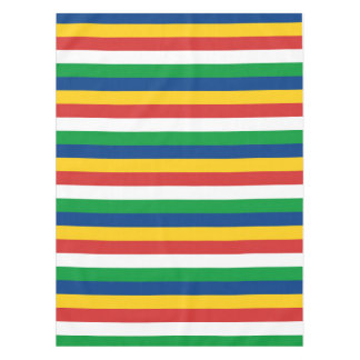 Seychelles flag stripes lines pattern tablecloth
