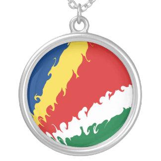 Seychelles Gnarly Flag Custom Necklace