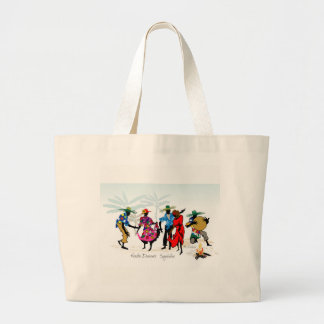 Seychelles Moutia Dancers Large Tote Bag