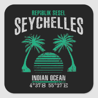 Seychelles Square Sticker
