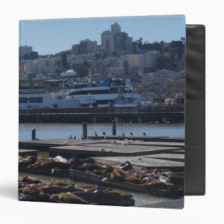 SF City Skyline & Pier 39 Sea Lions Binder