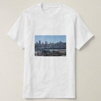 SF City Skyline & Pier 39 Sea Lions T-shirt