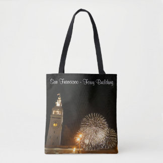 SF Ferry Building Fireworks #2 All Over Print Bag