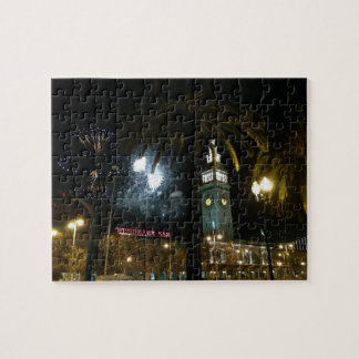SF Ferry Building Fireworks Jigsaw Puzzle