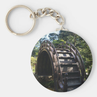 SF Japanese Tea Garden Drum Bridge Button Keychain