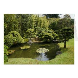 SF Japanese Tea Garden Pond Greeting Card