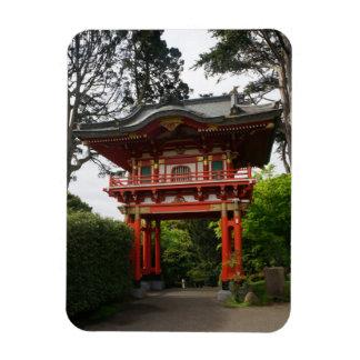 SF Japanese Tea Garden Temple Gate #2 Photo Magnet