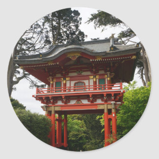 SF Japanese Tea Garden Temple Gate #2 Stickers