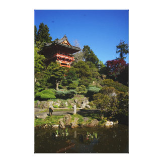 SF Japanese Tea Garden Temple Gate Canvas