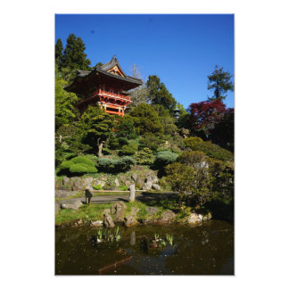 SF Japanese Tea Garden Temple Gate Photo Print