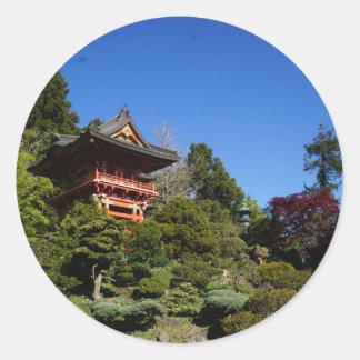 SF Japanese Tea Garden Temple Gate Stickers