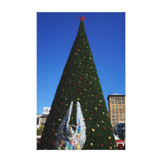 SF Union Square Christmas Tree Canvas