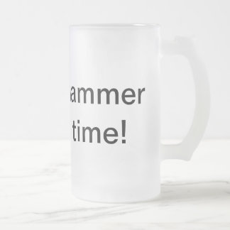 sfl hammer time! frosted glass beer mug