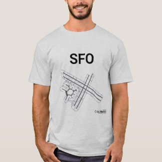 SFO Airport Layout T-Shirt
