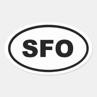 SFO San Francisco Oval Sticker