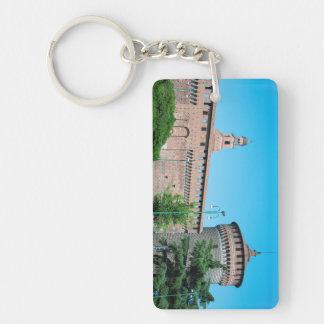 Sforza Castle tower italy milan architecture landm Keychain