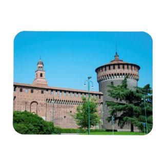 Sforza Castle tower italy milan architecture landm Magnet