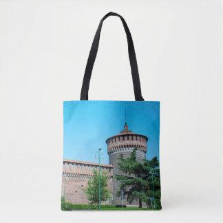 Sforza Castle tower italy milan architecture landm Tote Bag