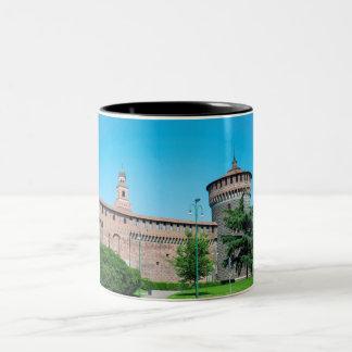 Sforza Castle tower italy milan architecture landm Two-Tone Coffee Mug
