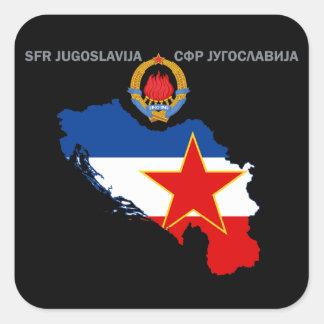 SFR Yugoslavia - Map - Emblem - Flag Sticker
