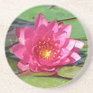 SG Pink Water Lily Coaster  0010