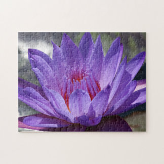 SG Purple Tropical Waterlily Puzzle #1 2017