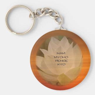 "SGI Buddhist Key Chain Lotus ""Nam Myoho Renge Kyo"""