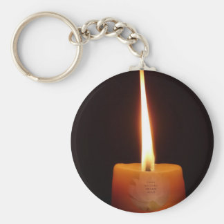 SGI Buddhist Key Chain with Lotus Candle and NMRK
