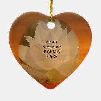 "SGI Buddhist Ornament: Lotus ""Nam Myoho Renge Kyo"" Ceramic Ornament"