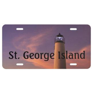 SGI Lighthouse Sunset License Plate