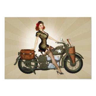 Sgt. Davidson Army Motorcycle Pinup Invitation