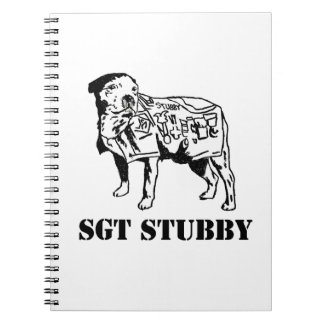 SGT STUBBY HERO DOG spiral notebook