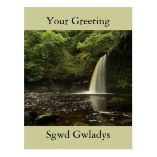 Sgwd Gwladys Waterfall 2 Postcard
